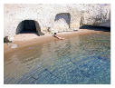 Cove at Pachaina beach, Milos
